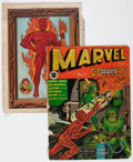 Golden Age (1938-1955):Superhero, Marvel Mystery Comics #5 and 17 Covers Only Group (Timely, 1940-41).... (Total: 2 Items)