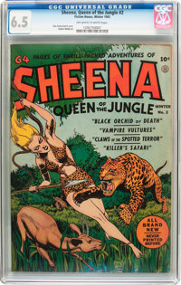 Sheena, Queen of the Jungle #2 (Fiction House, 1942) CGC FN+ 6.5 Off-white to white pages