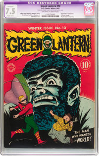Green Lantern #10 (DC, 1943) CGC Apparent VF- 7.5 Slight (C-1) Off-white to white pages