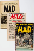 Golden Age (1938-1955):Humor, MAD #7, 12, and 16 Group (EC, 1953-54) Condition: Average GD/VG.... (Total: 3 Comic Books)