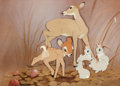 Animation Art:Color Model, Bambi Color Model Nitrate Cel (Walt Disney, 1942)....