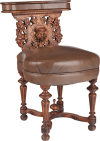 A Continental Renaissance Revival-Style Carved Oak Prie Dieu, late 19th century 30 h x 19 w x 18-1/2 inches deep (