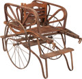 Decorative Arts, Continental:Other , A Victorian Wood and Iron Child's Hand Cart, early 20th century. 30h x 42-1/2 w x 20-1/2 inches deep (76.2 x 108.0 x 52.1 c...