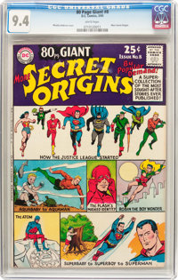 80 Page Giant #8 More Secret Origins (DC, 1965) CGC NM 9.4 White pages