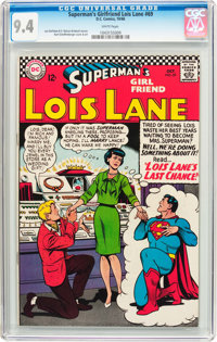 Superman's Girlfriend Lois Lane #69 (DC, 1966) CGC NM 9.4 White pages