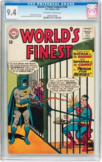 World's Finest Comics #145 (DC, 1964) CGC NM 9.4 Off-white to white pages