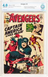 The Avengers #4 (Marvel, 1964) CBCS VG 4.0 Off-white to white pages