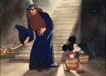Animation Art:Concept Art, Fantasia Mickey Mouse as the Sorcerer's Apprentice ConceptArt (Walt Disney, 1940)....