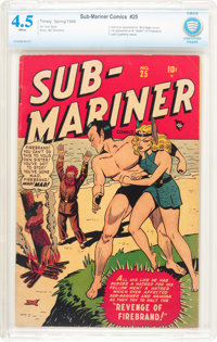 Sub-Mariner Comics #25 (Timely, 1948) CBCS VG+ 4.5 White pages