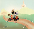 Animation Art:Production Cel, Nifty Nineties Mickey Mouse and Minnie Mouse Production Cel (Walt Disney, 1941)....