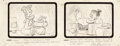 Animation Art:Production Drawing, The Flintstones First Episode Presentation/Storyboard Group of 5 (Hanna-Barbera, 1960).... (Total: 5 Original Art)