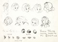 animation art:Model Sheet, Snow White and the Seven Dwarfs Grumpy, Doc, Dopey, and SnowWhite Studio Model Sheets Group of 4 (Walt Disney, 1937)....(Total: 4 Illustration Art)
