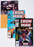 Modern Age (1980-Present):Superhero, Iron Man and Others Box Lot (Marvel, 1970s-2000s) Condition:Average FN/VF....