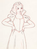 Animation Art:Production Drawing, Snow White and the Seven Dwarfs Animation Drawing (WaltDisney,1937)....
