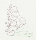 Animation Art:Production Drawing, Pinocchio Russian Dance Animation Drawing (Walt Disney,1940)....