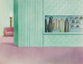 Animation Art:Painted cel background, Hollywood Steps Out Painted Background (Warner Brothers,1941)....