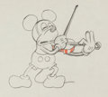 Animation Art:Production Drawing, Just Mickey/Fidlin' Around Mickey Mouse Animation Drawing(Walt Disney, 1930)....