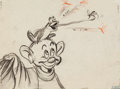 Animation Art:Concept Art, The Winged Scourge Dopey and Sleepy Dwarfs Concept Art (WaltDisney, 1943).... (Total: 2 Items)