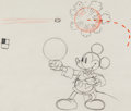 Animation Art:Production Drawing, Magician Mickey Mickey Mouse Layout Drawing (Walt Disney,1937)....