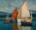 Fine Art - Painting, European:Modern  (1900 1949)  , Paul Andre Jean Eschbach (French, 1881-1961). Concarneau TempsOrageux. Oil on canvas. 21-1/2 x 25-3/4 inches (54.6 x 65...