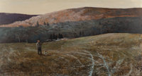 Chet Reneson (American, b. 1934) Late Afternoon, 1975 Oil on masonite 22-1/2 x 40 inches (57.2 x