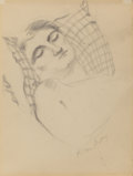 Fine Art - Work on Paper:Drawing, Milton Avery (American, 1885-1965). Sleeping Beauty, 1932.Pencil on paper. 11 x 8-1/2 inches (27.9 x 21.6 cm) (sheet). ...