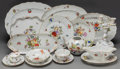 Ceramics & Porcelain, Continental:Contemporary   (1950 to present)  , An Eighty-Nine Piece Herend Rothschild Bird Pattern andFruits and Flowers Pattern Porcelain Service... (Total: 90Items)