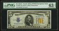Fr. 2307 $5 1934A North Africa Silver Certificate. PMG Choice Uncirculated 63 EPQ