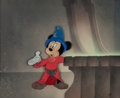 "Animation Art:Production Cel, Fantasia ""The Sorcerer's Apprentice"" Mickey Mouse Production Cel Courvoisier Setup (Walt Disney, 1940)...."
