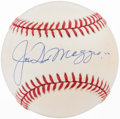 Baseball Collectibles:Hats, Joe DiMaggio Single Signed Baseball....