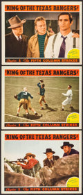 """Movie Posters:Serial, King of the Texas Rangers (Republic, 1941). Lobby Cards (3) (11"""" X 14"""") Chapter 1 -- """"The Fifth Column Strikes."""" Serial.. ... (Total: 3 Items)"""