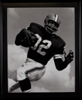 Football Collectibles:Photos, Jim Brown Original Oversized Print....