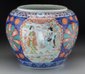 Asian:Japanese, A Japanese Meiji Period Painted Porcelain Jardinière, late 19thcentury. 12-7/8 inches high (32.7 cm). ...