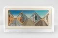 Prints:Contemporary, Patrick Hughes (b.1939). Journeys, 2000. Hand painted 3Dlithographic multiple in colors, in the original perspex presen...