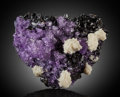 Minerals:Cabinet Specimens, Fluorite & Baryte on Sphalerite . Elmwood Mine,Carthage. Central Tennessee Ba-F-Pb-Zn District.Smith Co.. Te... (Total: 2 Items)