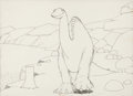 Animation Art:Production Drawing, Gertie the Dinosaur Animation Drawing (Winsor McCay,1914)....
