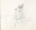 Animation Art:Production Drawing, Peter Pan Captain Hook Animation/Color Model Drawing (Walt Disney, 1953)....