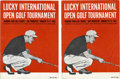 Golf Collectibles:Autographs, 1963 Golf Programs Signed by over 75 Lot of 2. Two 1963 programsfrom the Lucky International Open are up for grabs here, b...