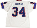 """Football Collectibles:Others, Thurman Thomas""""1991 MVP"""" Signed Jersey. Thermal Thurman Thomas was the backfield staple for several very good Buffalo Bills..."""