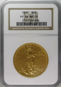 """Proof Saint-Gaudens Double Eagles: , 1910 $20 PR66 NGC. Matte. The Garrett-Guth Encyclopedia of U.S.Gold Coins notes that """"One Proof example exists of this..."""