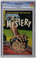 "Golden Age (1938-1955):Horror, Mister Mystery #13 Davis Crippen (""D"" Copy) pedigree (AragonMagazines, Inc., 1953) CGC VF- 7.5 Cream to off-white pages. Be..."