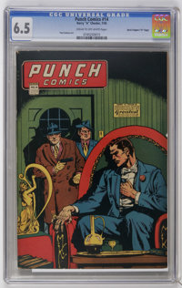 "Punch Comics #14 Davis Crippen (""D"" Copy) pedigree (Chesler, 1945) CGC FN+ 6.5 Cream to off-white pages. Overs..."