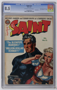 "Saint #12 Davis Crippen (""D"" Copy) pedigree (Avon, 1952) CGC VF+ 8.5 Off-white to white pages. Painted cover..."