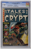 "Golden Age (1938-1955):Horror, Tales From the Crypt #38 Davis Crippen (""D"" Copy) pedigree (EC,1953) CGC FN/VF 7.0 Off-white pages. Jack Davis cover (toned..."