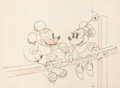 Animation Art:Production Drawing, Touchdown Mickey Animation Drawing (Walt Disney, 1932)....