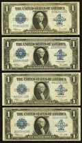 Large Size:Silver Certificates, Three Fr. 237 $1 1923 Silver Certificates Fine-Very Fine or Better;. Fr. 238 $1 1923 Silver Certificate Very Fine.. ... (Total: 4 notes)