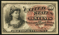 Fr. 1257 10¢ Fourth Issue About New