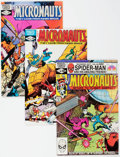 Modern Age (1980-Present):Science Fiction, Micronauts and Others Long Box Group (Marvel, 1980s) Condition:Average VF/NM....