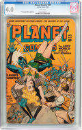 Golden Age (1938-1955):Science Fiction, Planet Comics #32 (Fiction House, 1944) CGC VG 4.0 White pages....