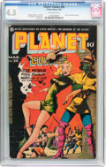 Golden Age (1938-1955):Science Fiction, Planet Comics #35 (Fiction House, 1945) CGC VG+ 4.5 Off-whitepages....